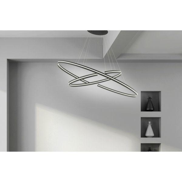 Φωτιστικό Κρεμαστό Ondaluce So.Ics/Nero-Gr